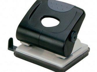 Perforadora 30 fulls negra Plus Office 175
