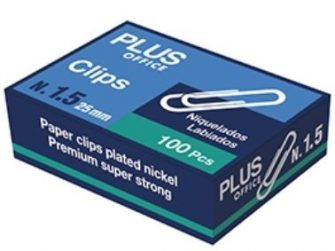 Clip labiado 28 mm núm. 1,5 -caixa 100- Plus