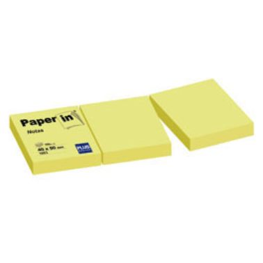 Notes adhesives color groc 40x50 Paper-in Plus -p 3-