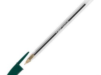 Bolígraf cristal color verd Bic
