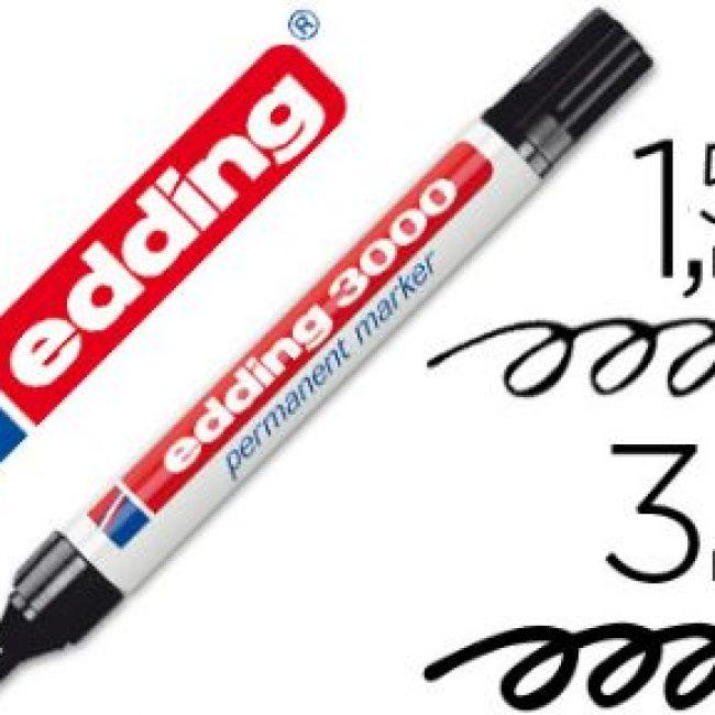 Retolador permanent negre Edding 3000