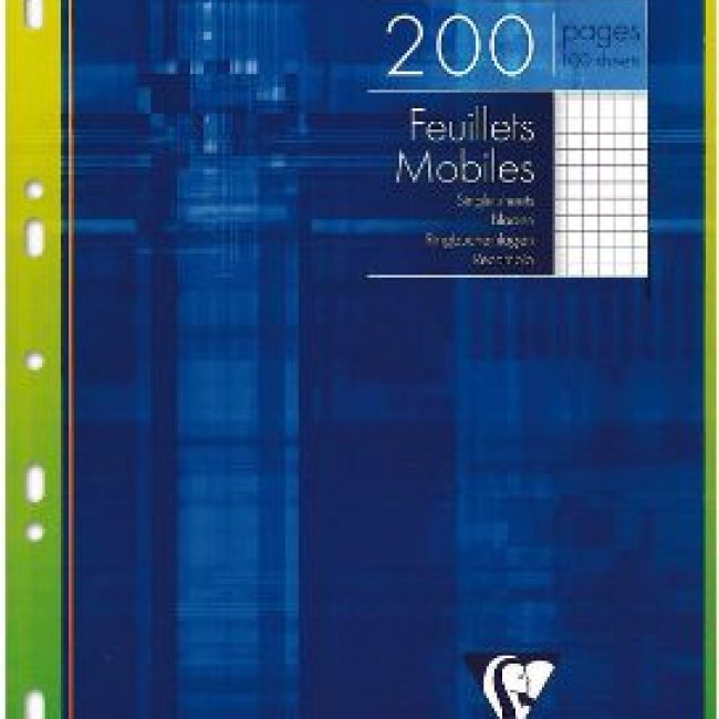 Fulls A4 5x5 blanc 90g Clairefontaine -p. 100-