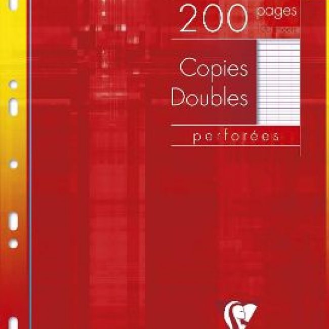 Fulls A4 doble seyes blanc 90g Clairefontaine -p. 100-
