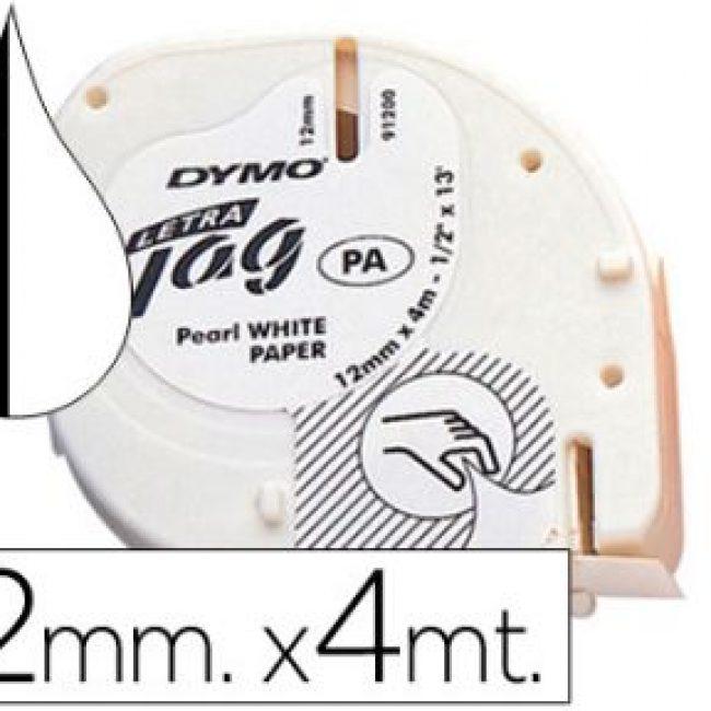 Cinta titoladora 12 mm x 4 m paper Tag Dymo 91200