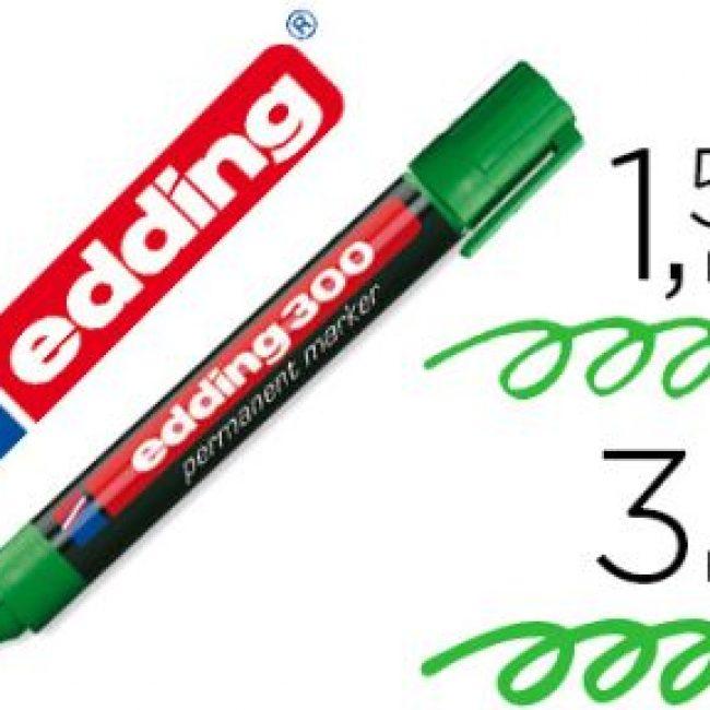 Retolador permanent verd plàstic Edding 300