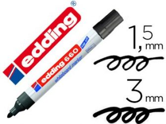 Retolador velleda negre Edding 660