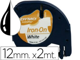 Cinta titoladora 12 mm x 2 m per roba Tag Dymo 18769