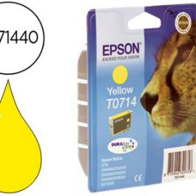Cartutx tinta original Epson T0714 groc