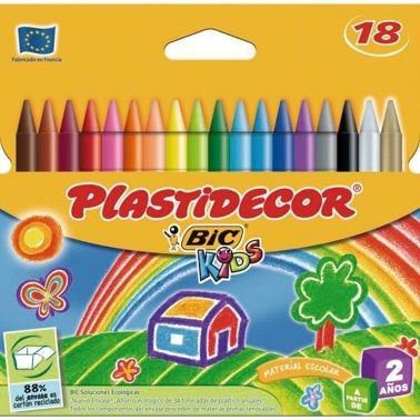 Barres plàstic colors Bic Plastidecor -estoig 18-