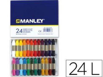 Llapis de cera colors assortits Manley -caixa 24-