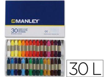 Llapis de cera colors assortits Manley -caixa 30-