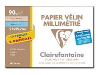 Paper mil.limetrat A4 90g Clairefontaine -p 12+3-