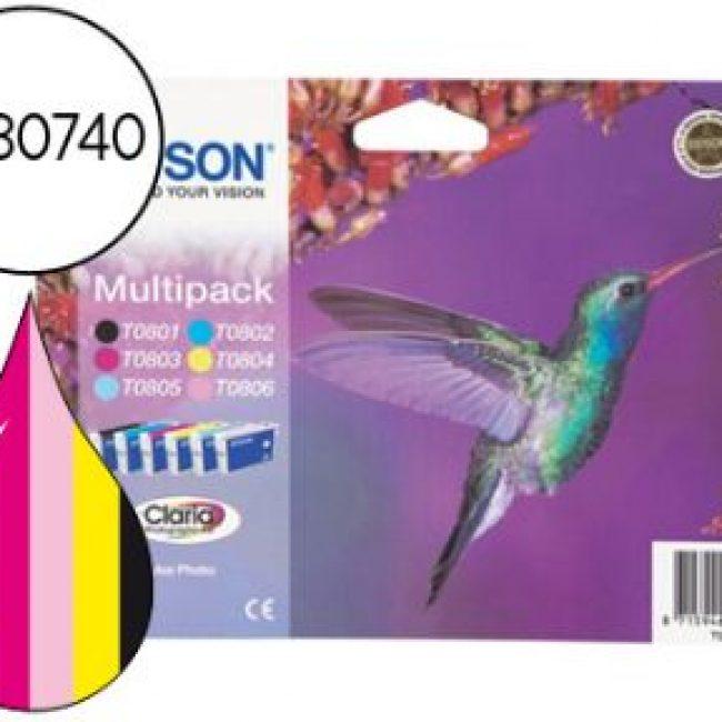 Cartutx tinta original Epson T0807 -multipack-