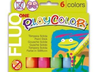 Tempera solida 6 colors 10g Playcolor One Fluo 10431