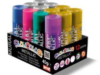 Tempera solida 12 colors 40g Playcolor metallic 10962