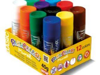 Tempera solida 12 colors 40g Playcolor 58331