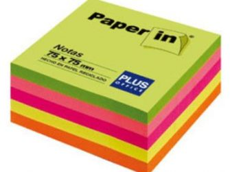 Notes adhesives 5 colors neon 300 fulls 75x75 Paper-in Plus
