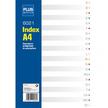 Separador plàstic alfabètic A4 16 taladres Plus
