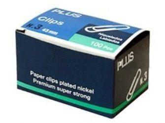 Clip labiado 43 mm núm. 3 -caixa 100- Plus