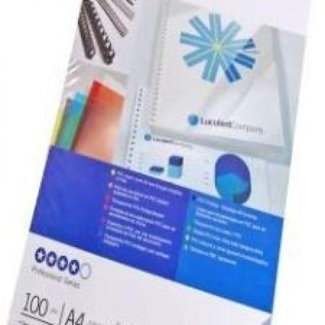 Tapa enquadernar A4 transparent 180 m. GBC -paquet 100-