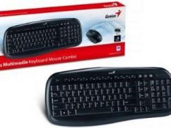 Teclat i mouse sense fil òptic negre Genius KB-8000