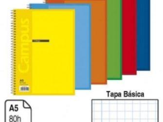 Llibreta espiral A5 80 fulls 60g 4mm TB Campus 1143