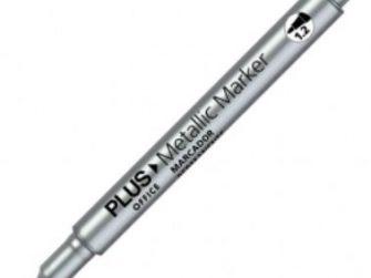 Retolador permanent plata 1,2mm Plus Metallic