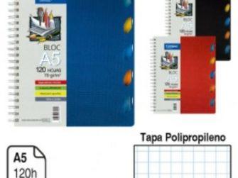 Llibreta espiral A5 120 fulls 70g 4mm 5 separadors TP Campus 1767