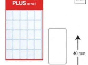 Etiquetes autoadhesives 19x40 Plus 1299 -5 fulls-