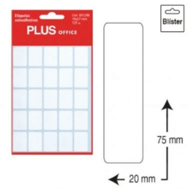 Etiquetes autoadhesives 20x75 Plus 1301 -5 fulls-