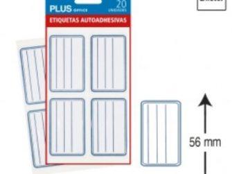 Etiquetes autoadhesives 56x36 Plus -5 fulls-