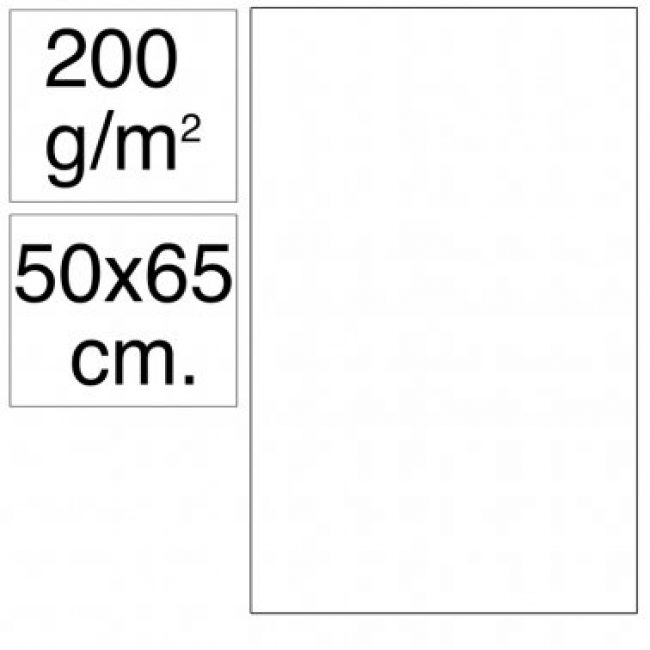 Cartolina 50x65 200gr blanc Makro
