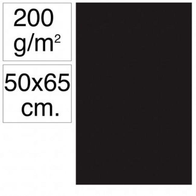 Cartolina 50x65 200gr negre Makro