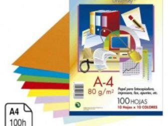 Paper Din A4 80g 10 colors surtits Campus -100 fulls-
