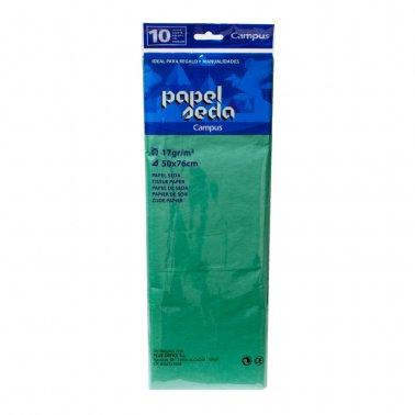 Paper seda verd fosc 50x76 Campus 600161 -p 10-