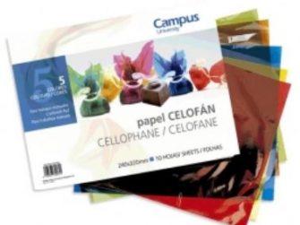 Quadern manualitats celofán 32x24 10 fulls Campus 630095