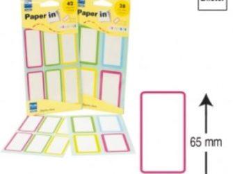 Etiquetes autoadhesives 37x65 Plus -7 fulls-