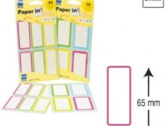 Etiquetes autoadhesives 28x65 Plus -7 fulls-