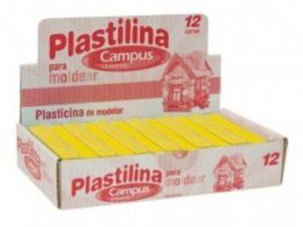 Plastilina groc 200g Campus