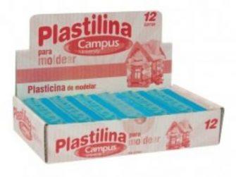 Plastilina blau clar 200g Campus