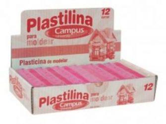 Plastilina rosa 200g Campus