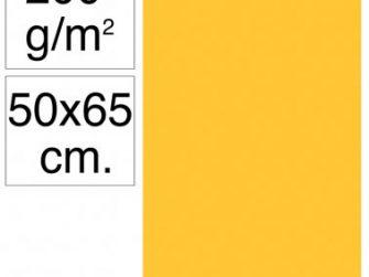 Cartolina 50x65 200gr groc gualda Makro