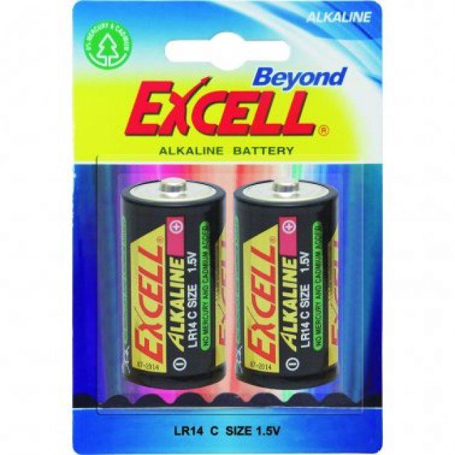 Pila LR14 alcalina Excell -blister 2 unit.-