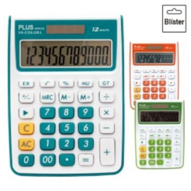 Calculadora 12 digits Plus Office SS-Color 1