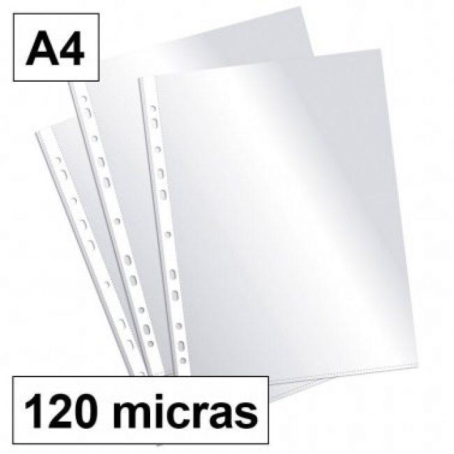 Funda PP A4 11T llis 120 micras Plus -caixa 100 -