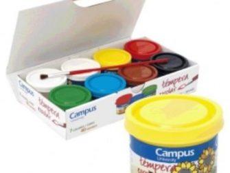 Tempera escolar colors surtits 40 ml Campus -paq 7-