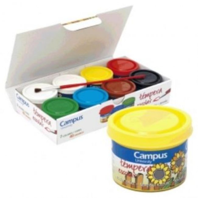 Tempera escolar colors surtits 40 ml Campus -paq 7-