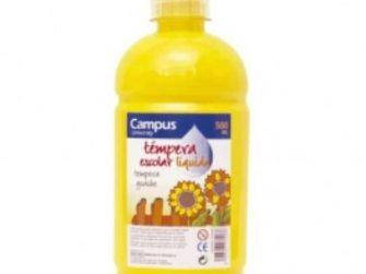 Tempera escolar groc 500 ml Campus
