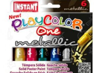 Tempera sòlida 6 colors 10g Playcolor One metallic 10321