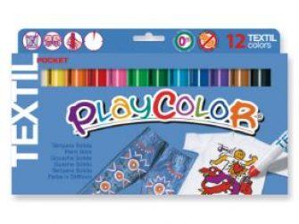 Tempera solida 12 colors 5g Playcolor textil 10561